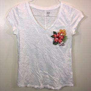 GAP Tropical Embroidered V-Neck